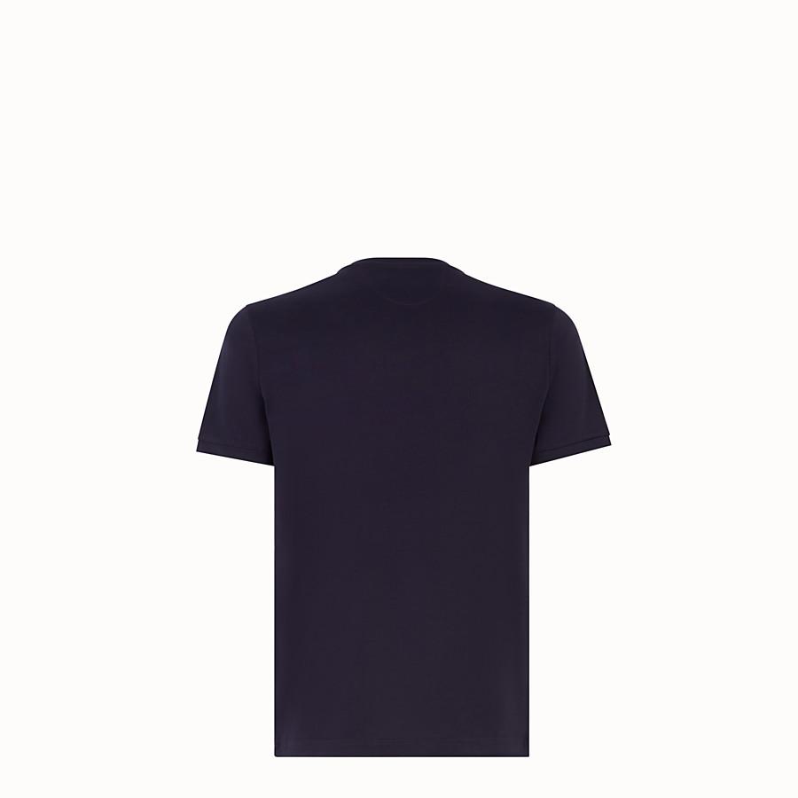 FENDI T-SHIRT - Blue cotton T-shirt - view 2 detail