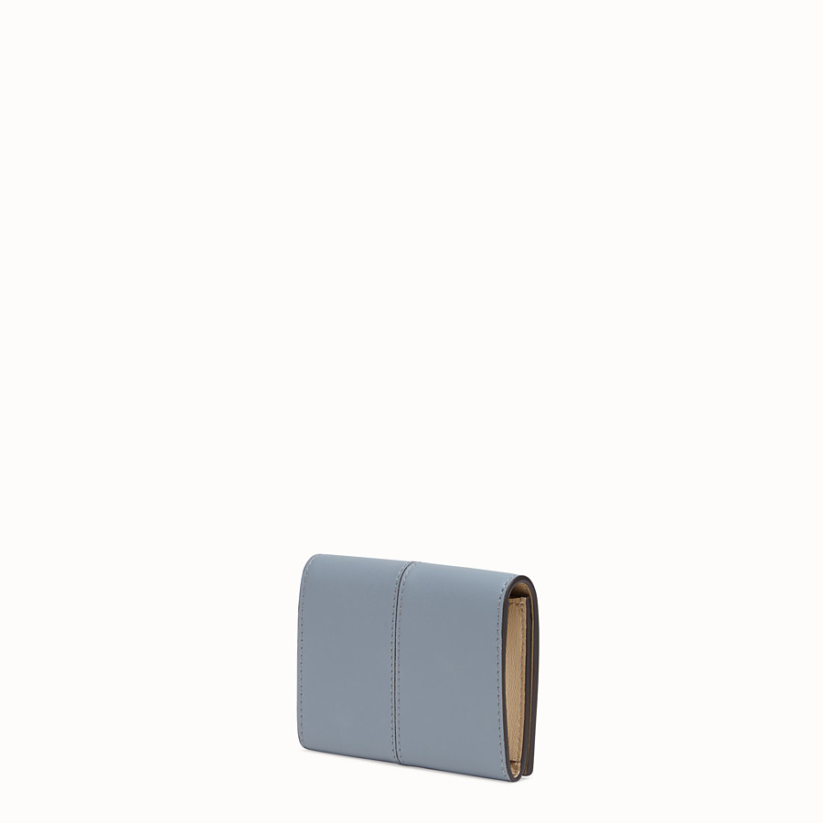 FENDI CARD HOLDER - Grey leather wallet - view 2 detail