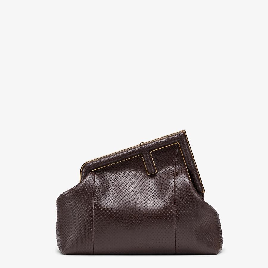 FENDI FENDI FIRST MEDIUM - Dark brown python leather bag - view 1 detail