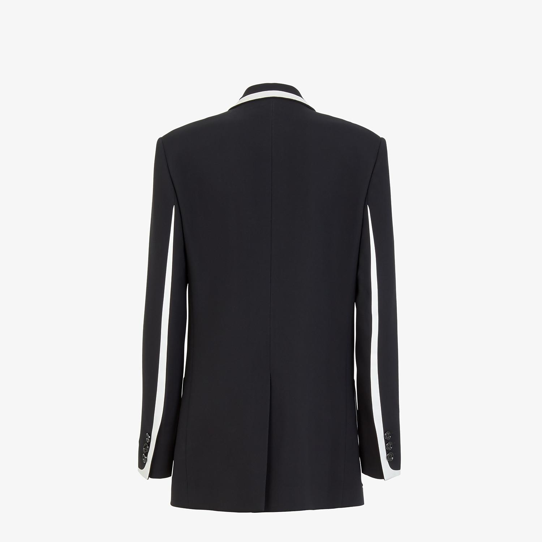 FENDI JACKET - Black cady jacket - view 2 detail