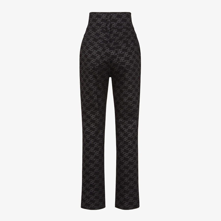 FENDI PANTS - Black denim pants - view 2 detail