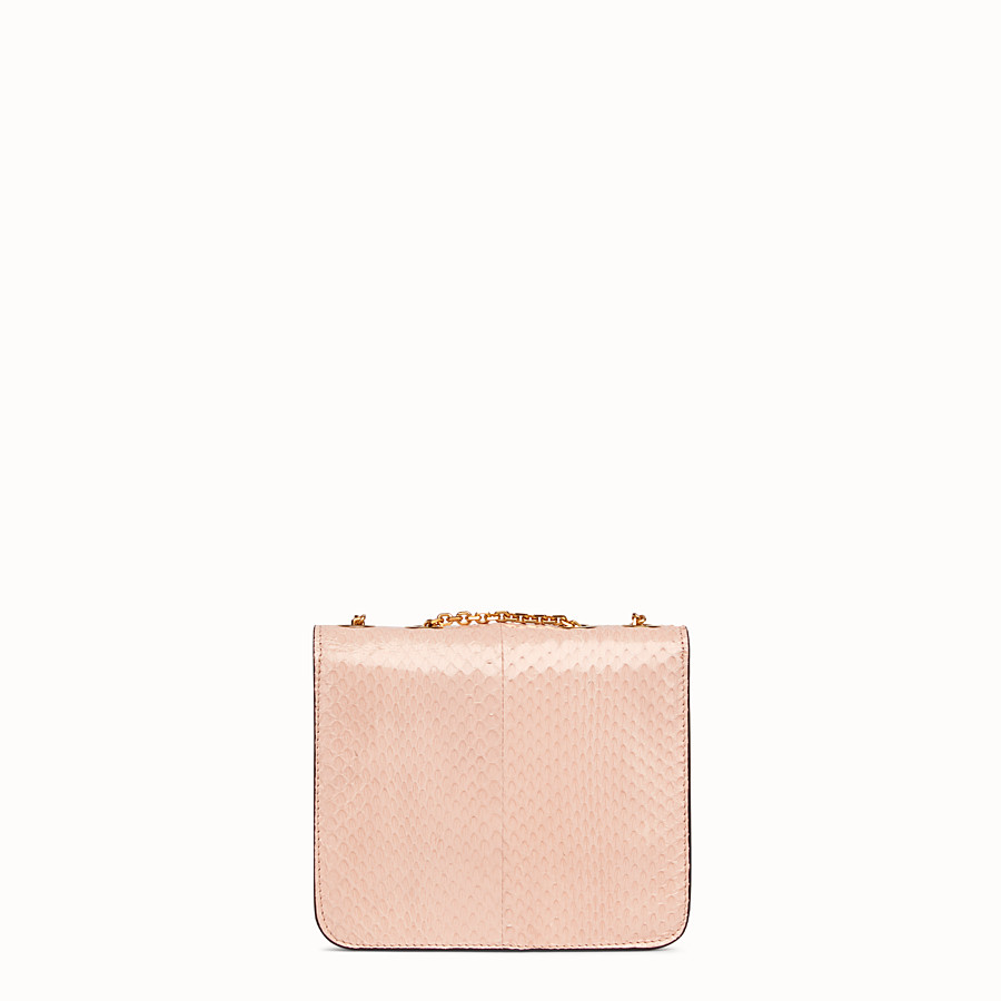 FENDI KARLIGRAPHY - Bag in pink elaphe - view 4 detail