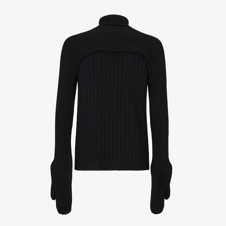 FENDI Turtleneck - Black wool jumper - view 2 detail