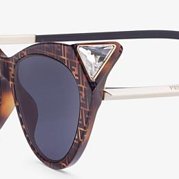 FENDI IRIDIA - Havana FF sunglasses - view 3 thumbnail