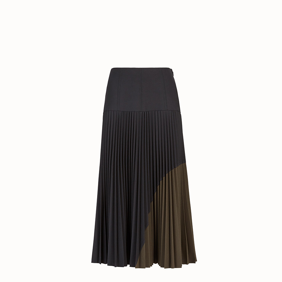 FENDI SKIRT - Black wool skirt - view 1 detail