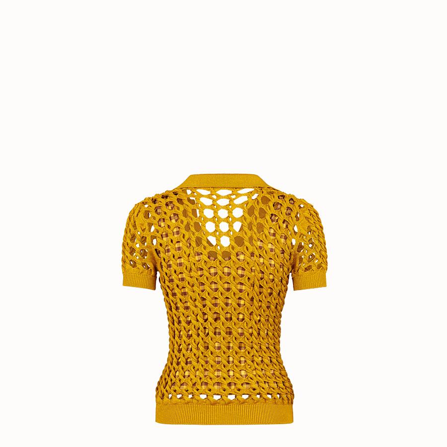 FENDI PULLOVER - Poloshirt aus Strickstoff in Gelb - view 2 detail