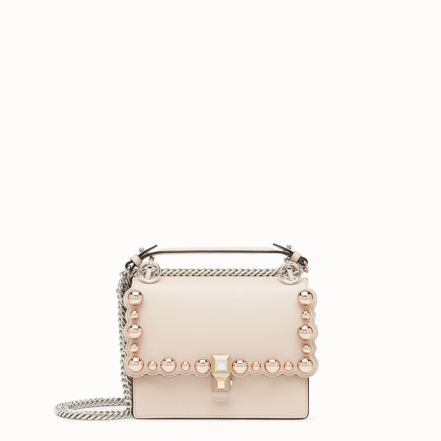 FENDI KAN I SMALL - Pink leather minibag - view 1 detail