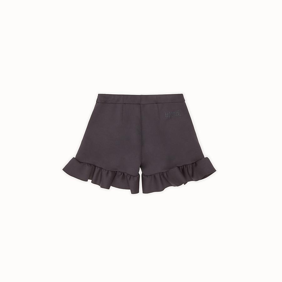 FENDI SHORTS - Black scuba shorts - view 2 detail