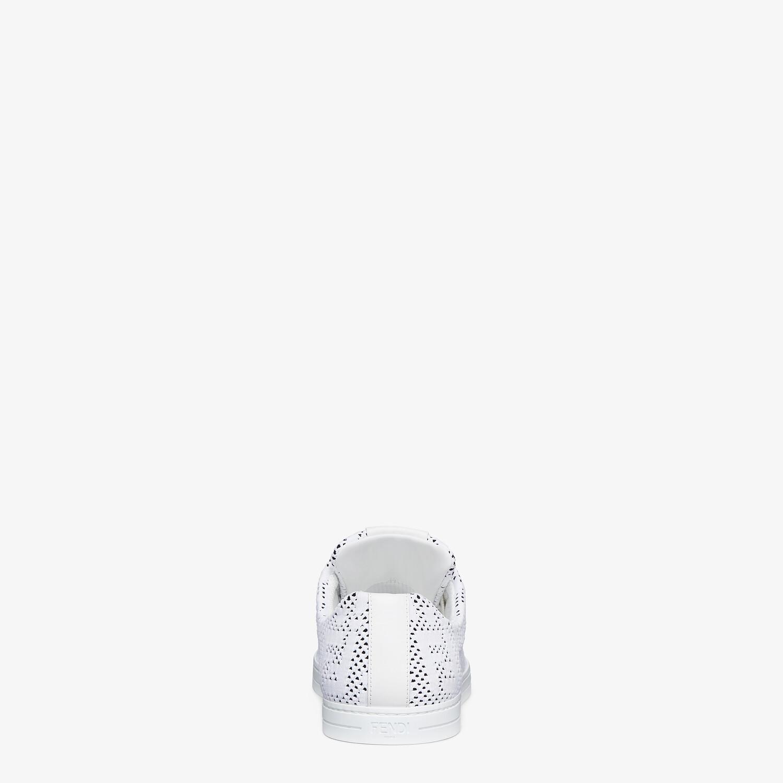 FENDI SNEAKERS - White mesh low-tops - view 3 detail