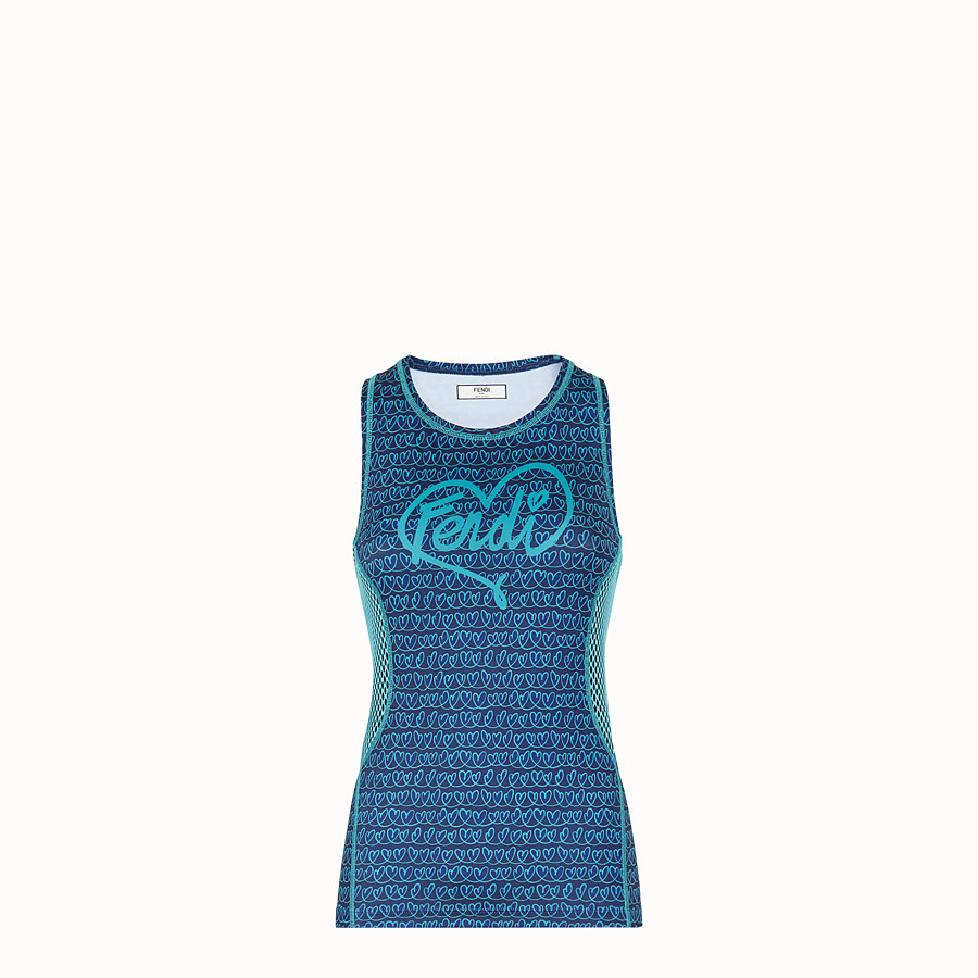 FENDI TANK TOP - Blue tech fabric top - view 1 detail