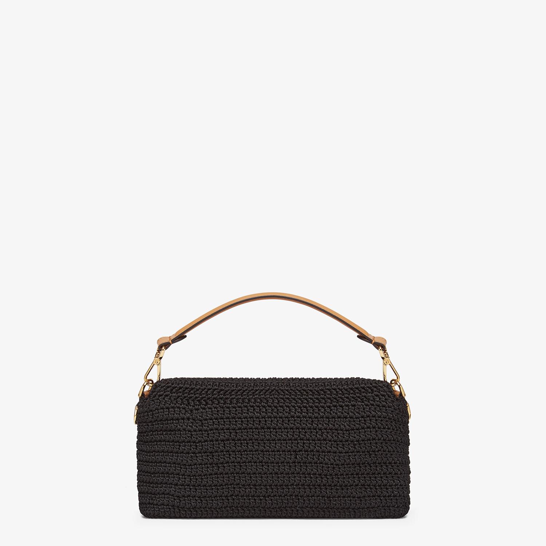 FENDI BAGUETTE - Black cotton crochet bag - view 3 detail