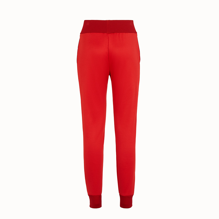 FENDI TROUSERS - Red jersey jogging trousers - view 2 detail