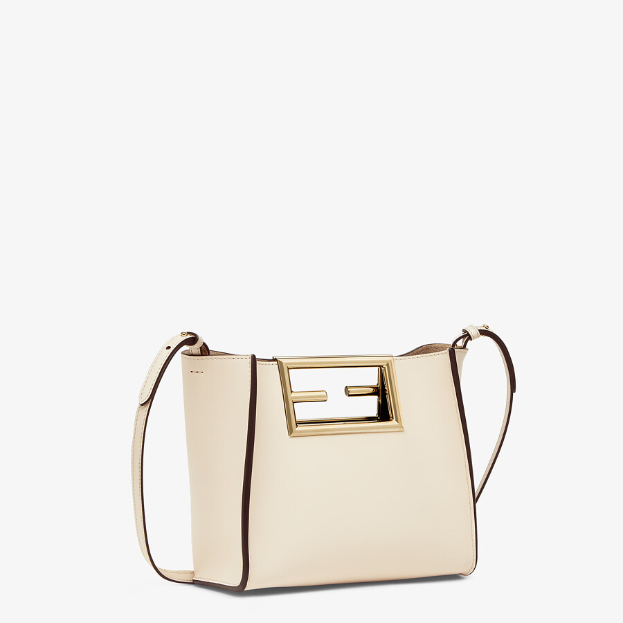 FENDI FENDI WAY SMALL - White leather bag - view 2 detail