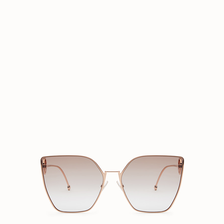 baa26dec8b3d Gold-colored sunglasses - F IS FENDI