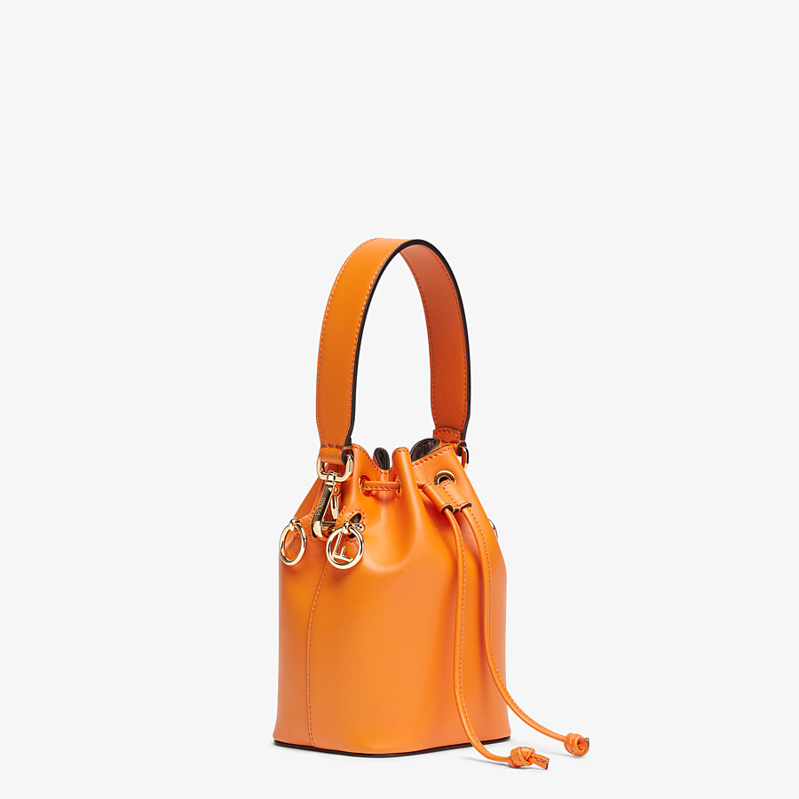FENDI MON TRESOR - Orange leather mini-bag - view 3 detail