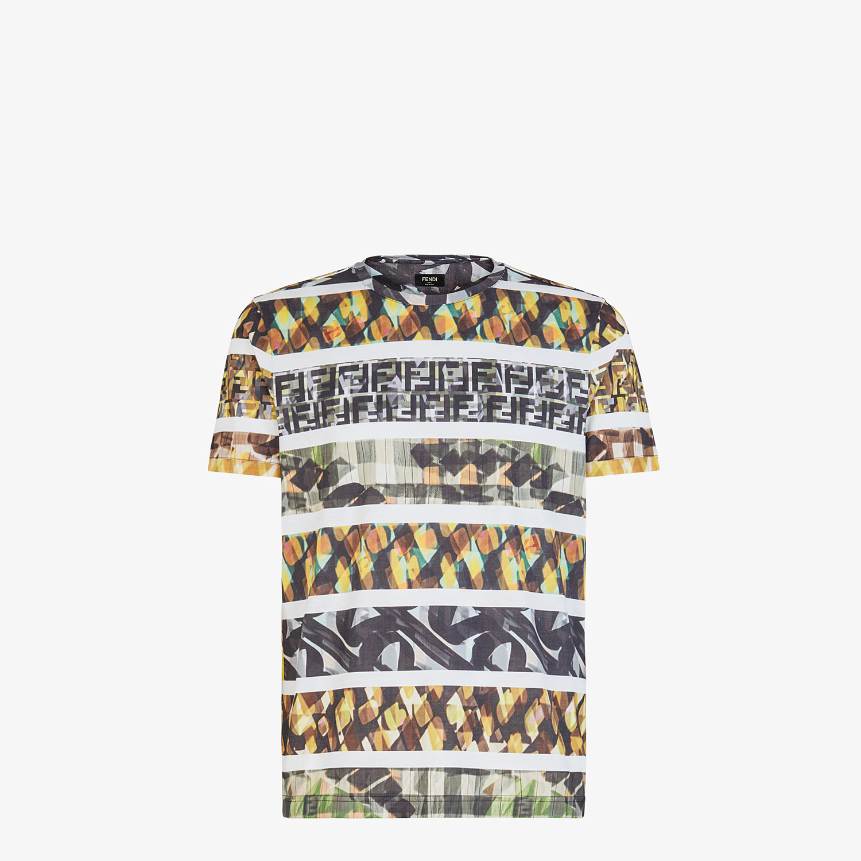 FENDI T-SHIRT - Multicolor cotton T-shirt - view 1 detail