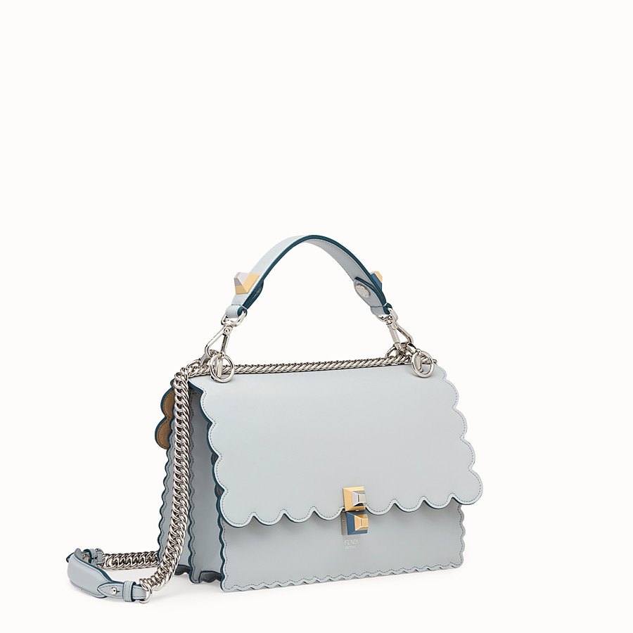 FENDI KAN I - Grey leather bag - view 2 detail
