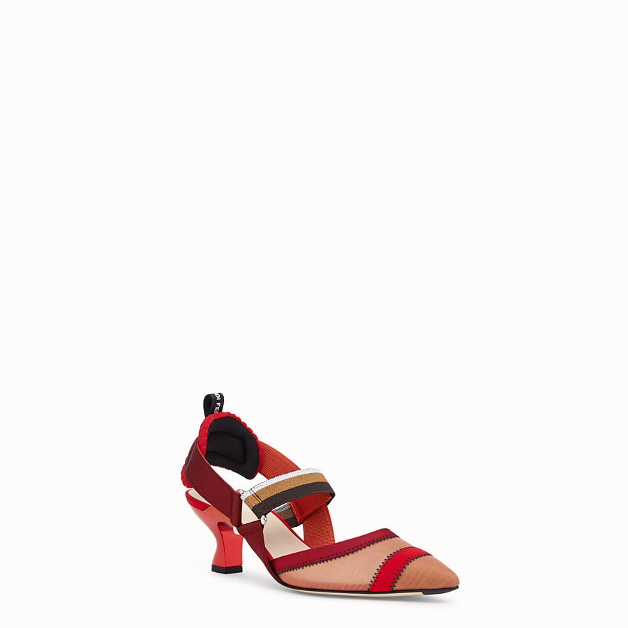 FENDI SLINGBACKS - Colibrì in red mesh - view 2 detail