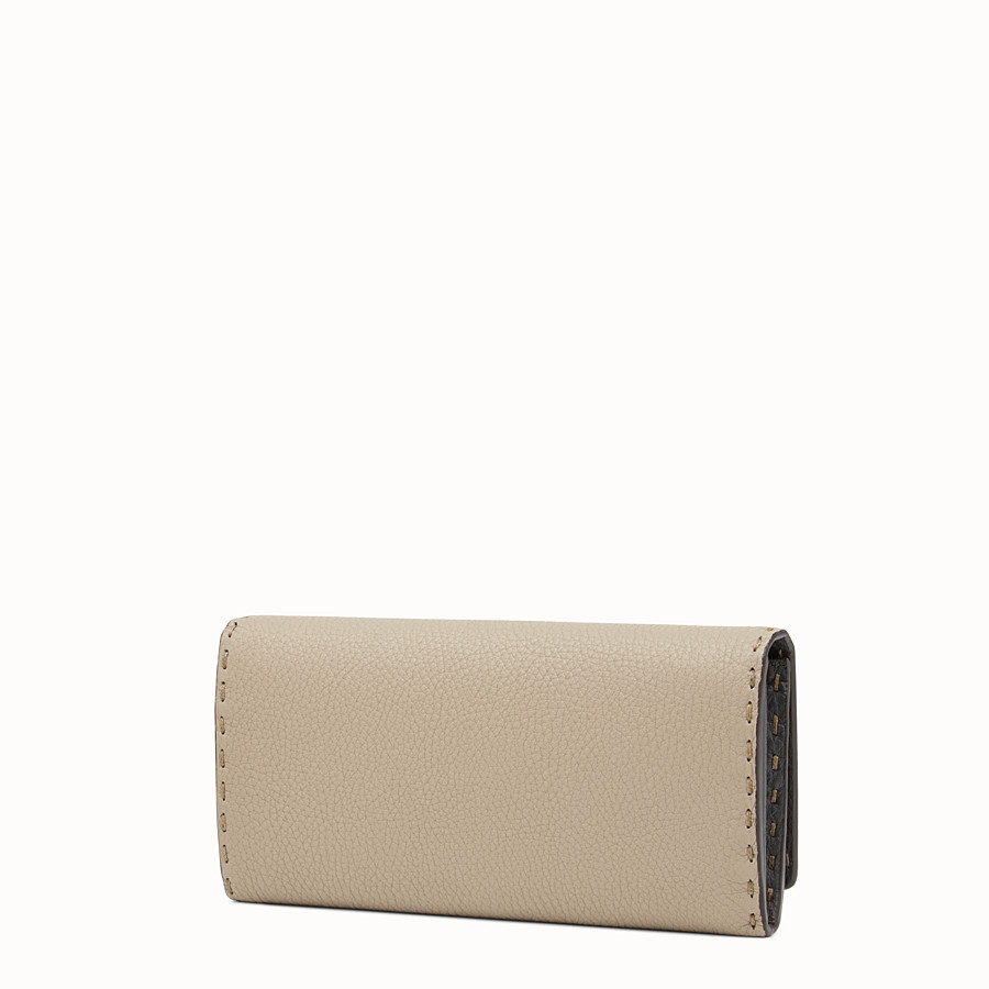 FENDI CONTINENTAL - Selleria beige and grey continental wallet - view 2 detail