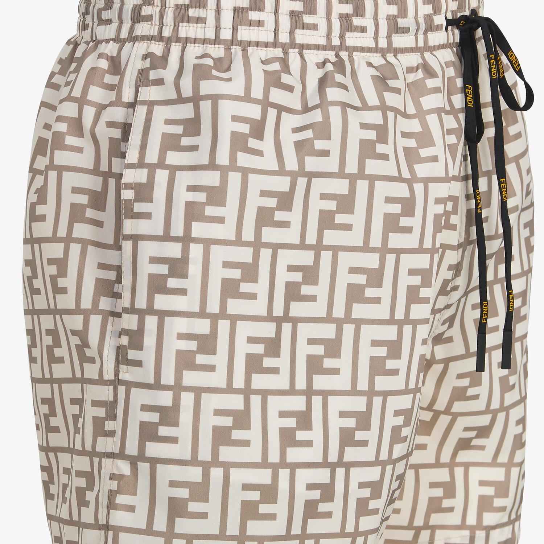 FENDI SWIM SHORTS - Beige Lycra® shorts - view 3 detail