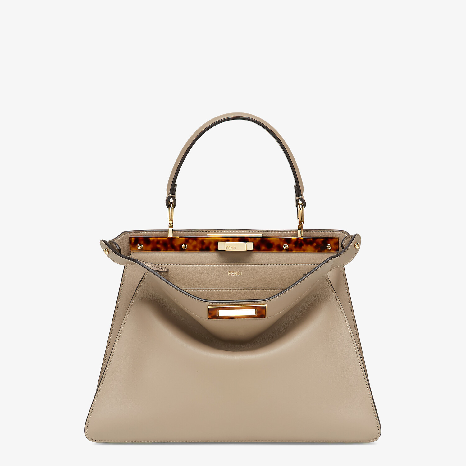 FENDI PEEKABOO ISEEU MEDIUM - gray leather bag - view 1 detail