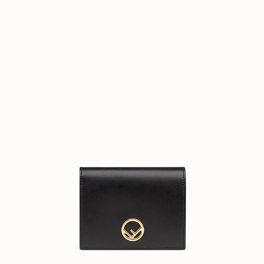 FENDI BIFOLD - Black compact leather wallet - view 1 detail