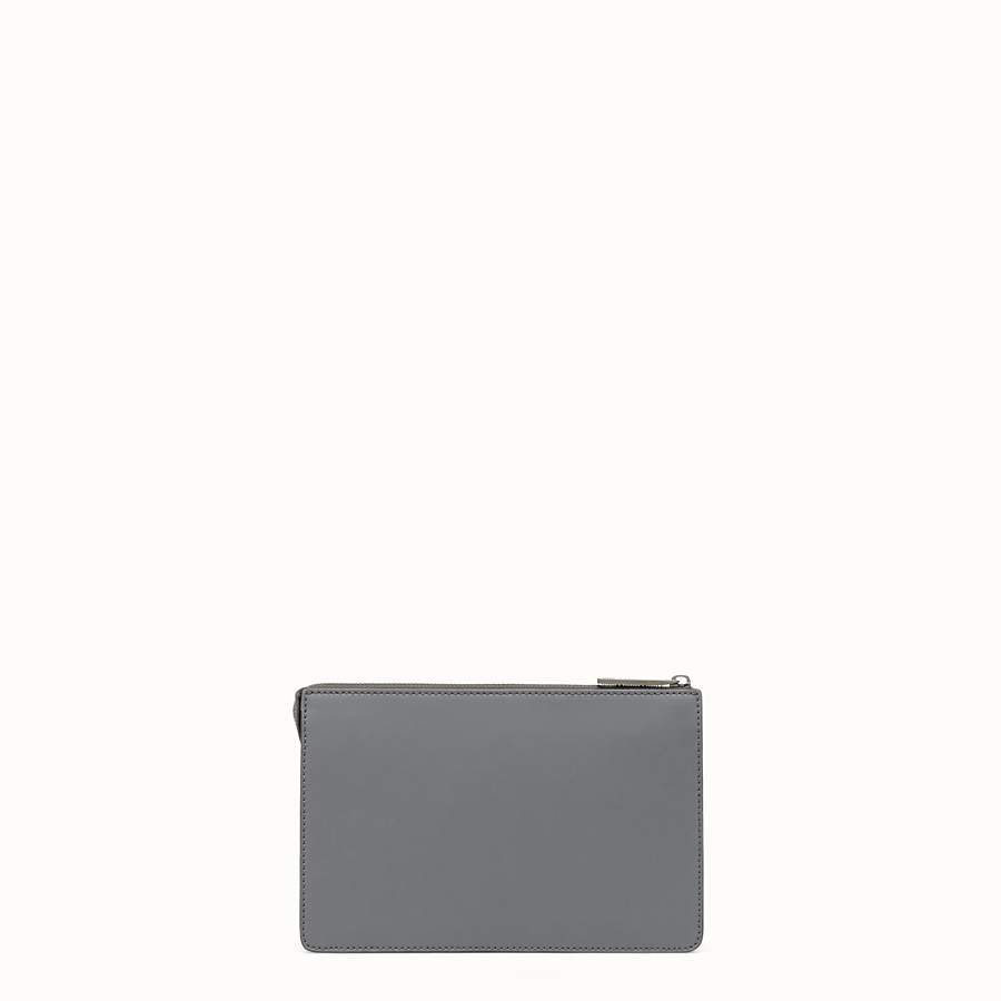FENDI CLUTCH - Pochette aus Leder in Grau - view 3 detail