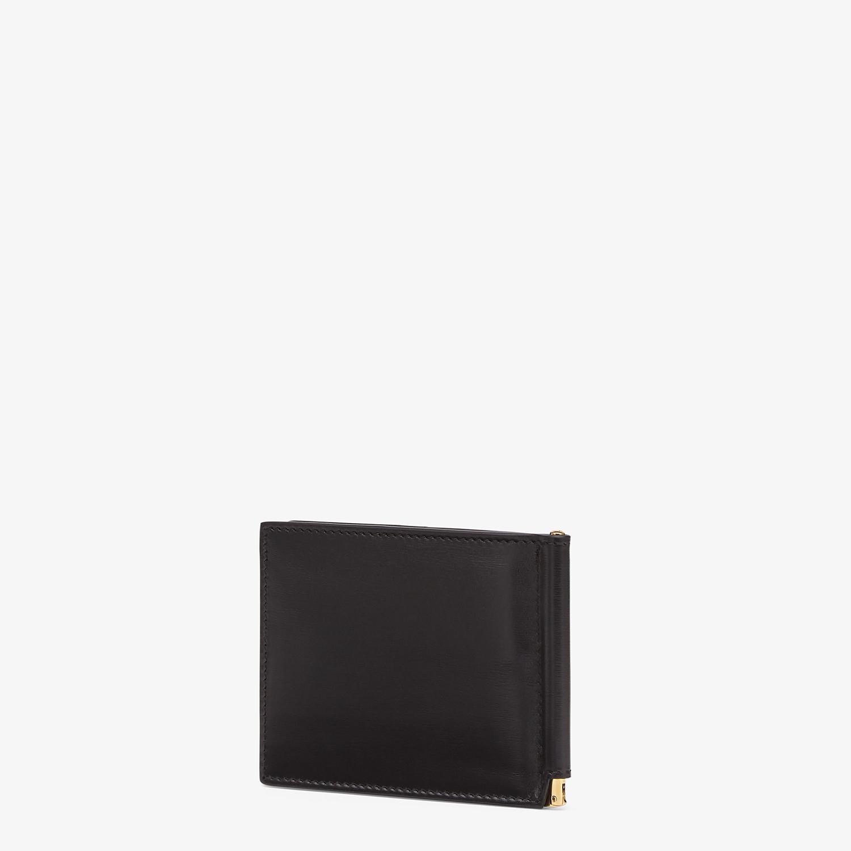 FENDI CARD HOLDER - Black leather money clip - view 2 detail