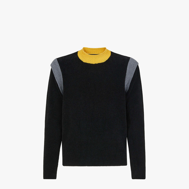 FENDI SWEATER - Sweater in black chenille - view 1 detail