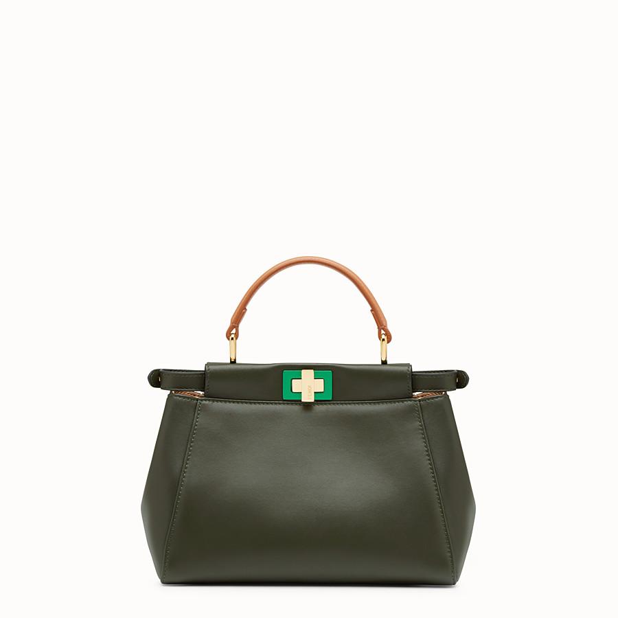 FENDI PEEKABOO MINI - Green nappa handbag - view 3 detail