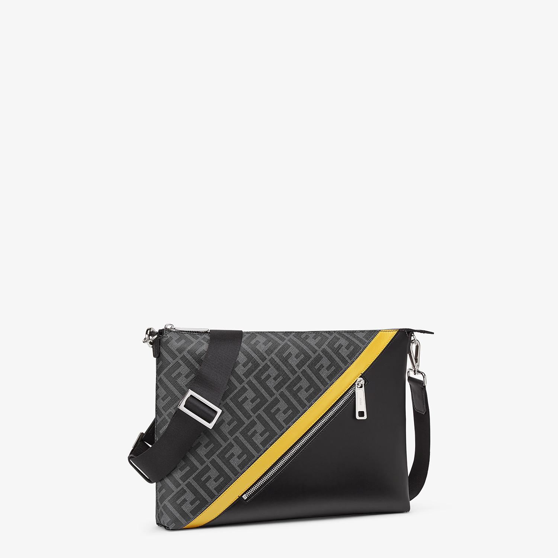 FENDI MESSENGER - Gray fabric bag - view 2 detail