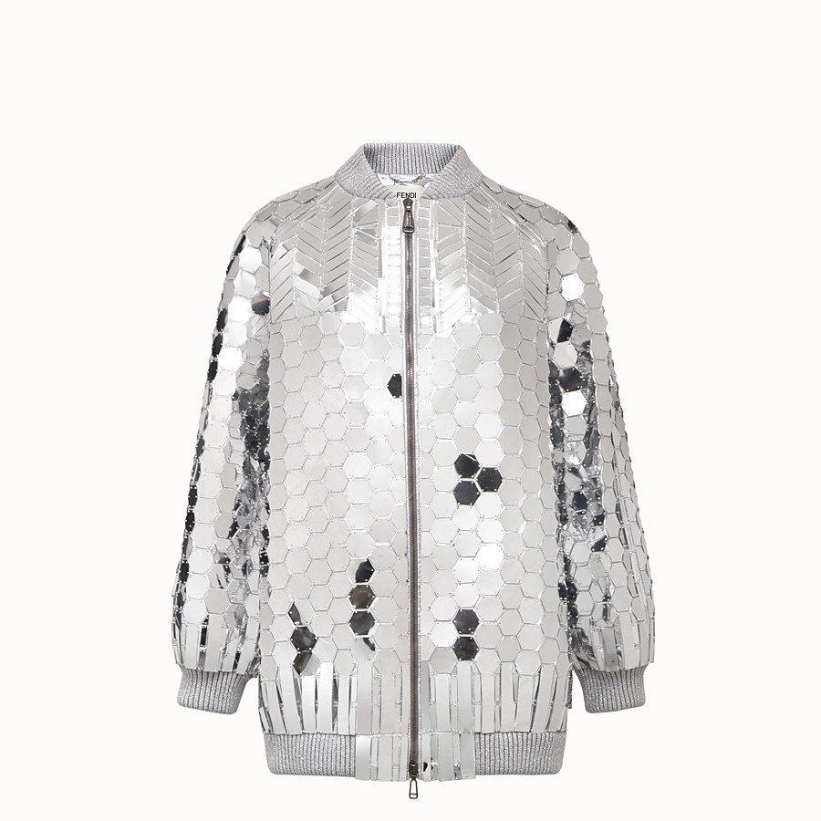 FENDI JACKET - Fendi Prints On jacket with silver-colored patches - view 1 detail