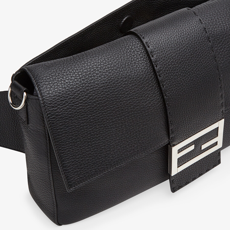 FENDI BAGUETTE LARGE - Black, calf leather bag - view 6 detail