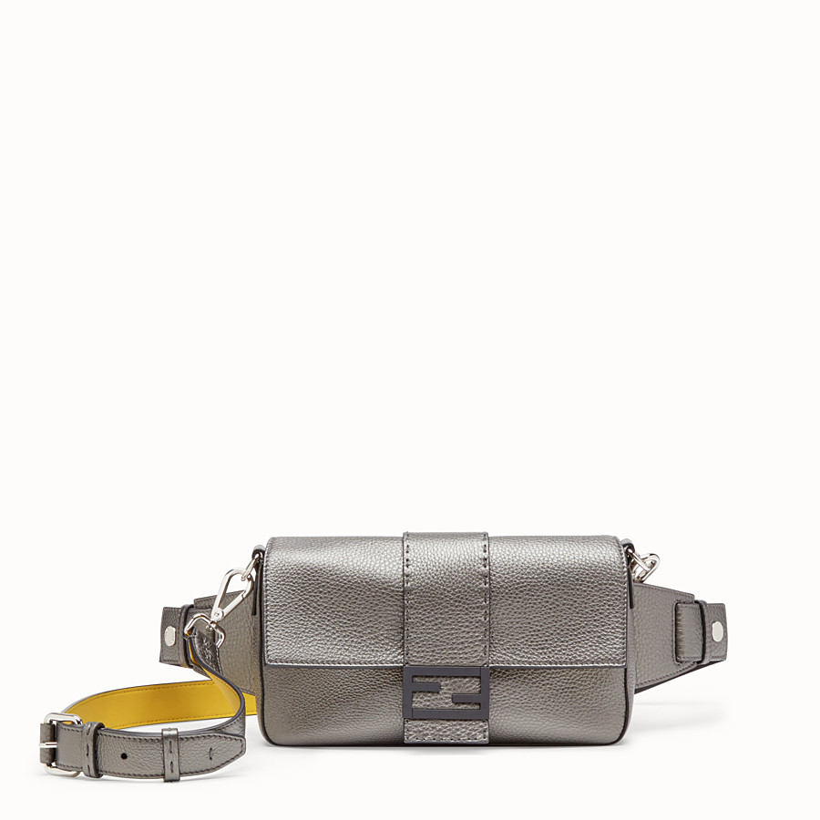 FENDI BAGUETTE - Gray leather bag - view 1 detail