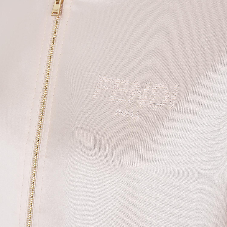 FENDI JUMPSUIT - Pink satin sweatshirt and pants - view 3 detail