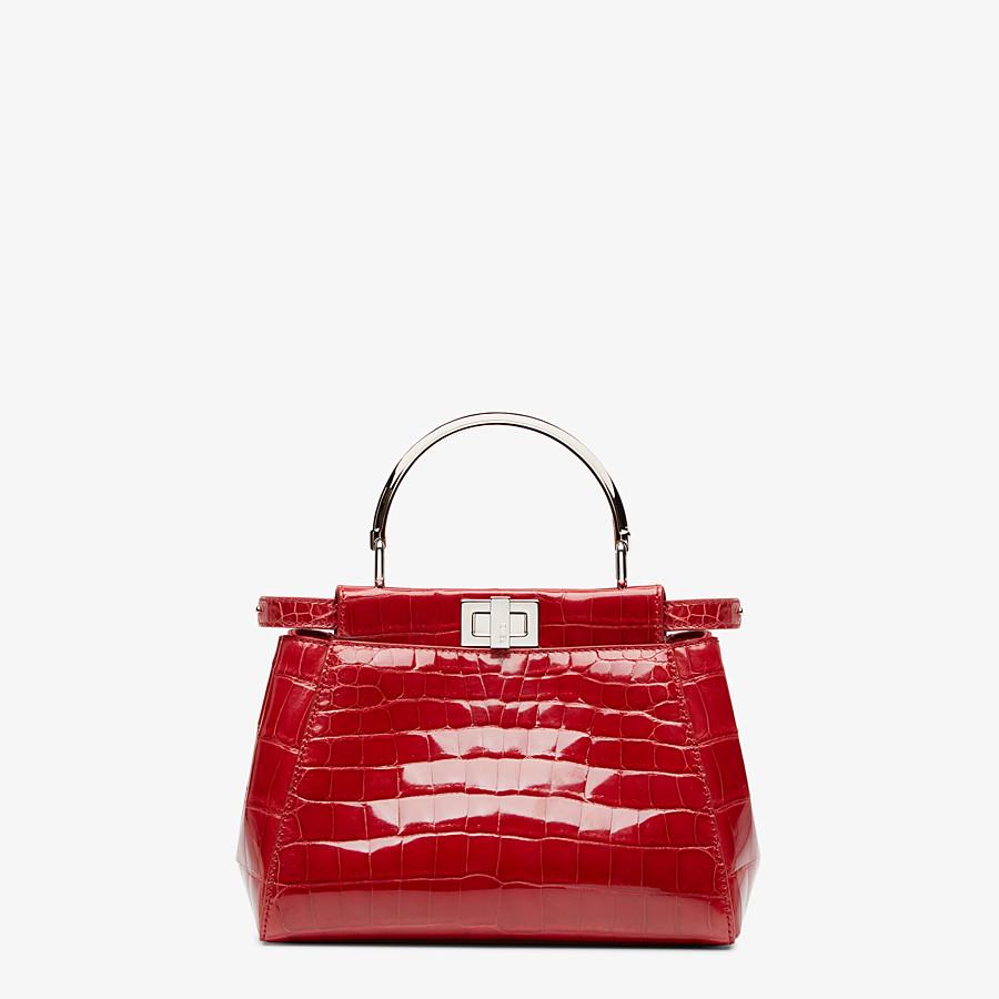 FENDI PEEKABOO ICONIC MINI - Red crocodile handbag - view 1 detail