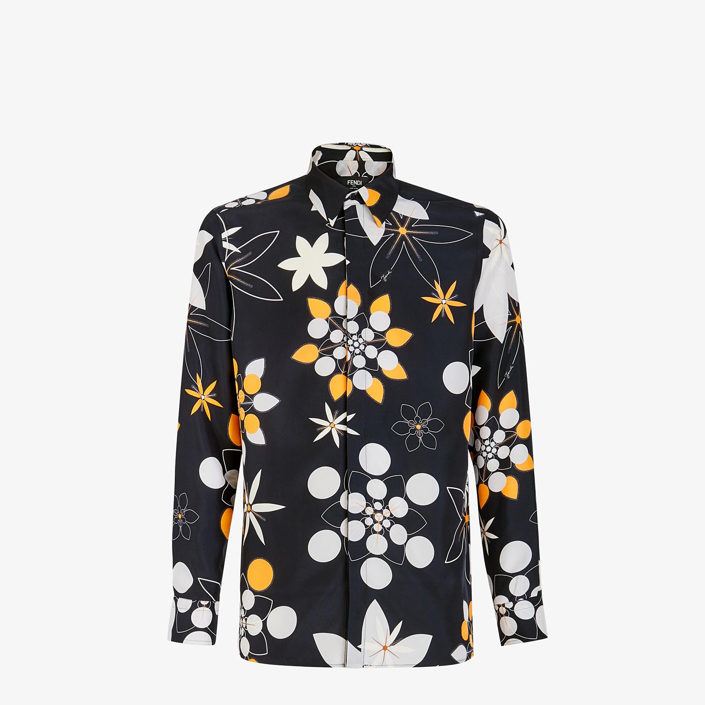FENDI SHIRT - Black silk shirt - view 1 detail
