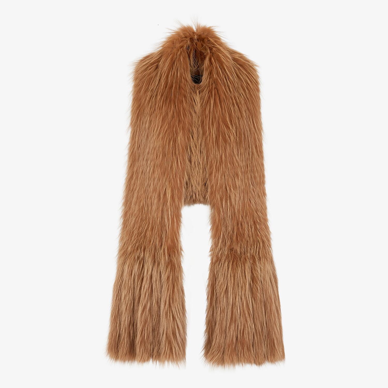 FENDI VEST - Brown fox fur vest - view 1 detail