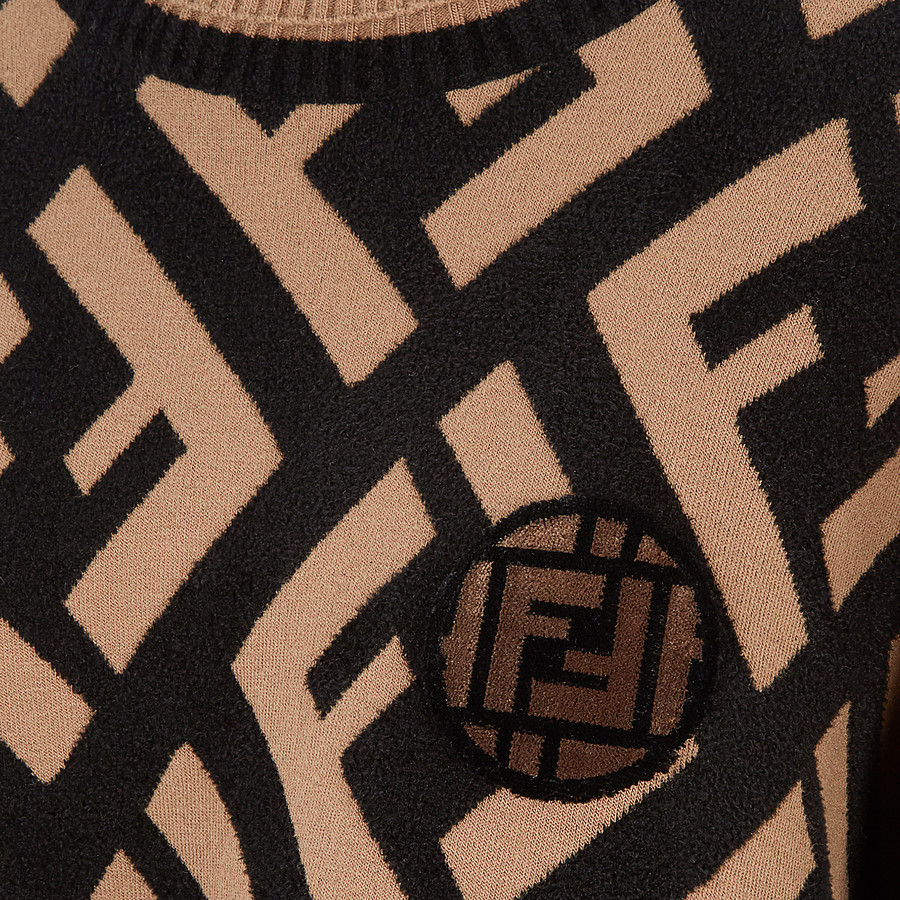 FENDI JUMPER - Multicolour wool poncho - view 3 detail