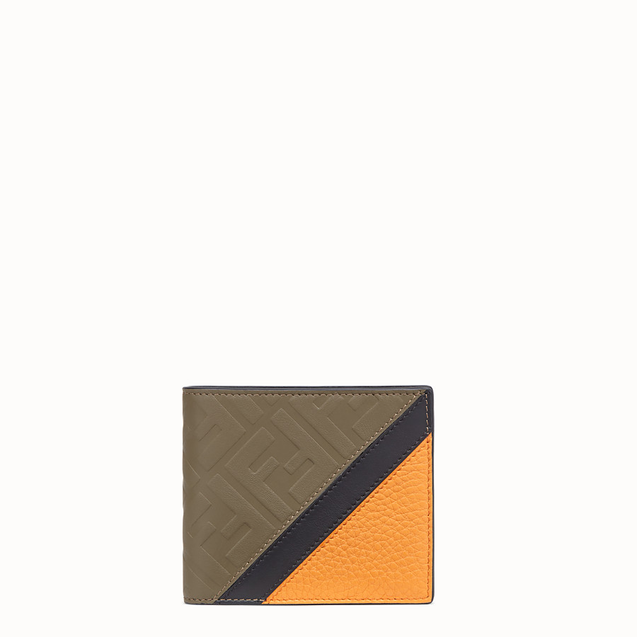 FENDI WALLET - Brown leather bi-fold wallet - view 1 detail