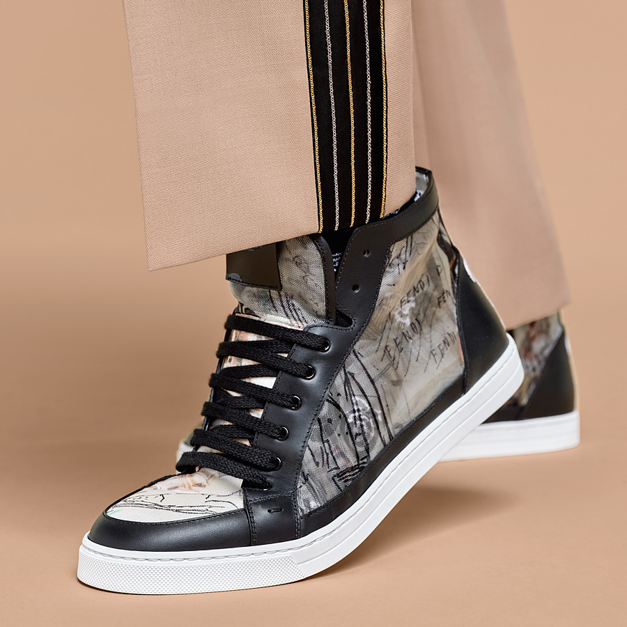 FENDI SNEAKERS - Chaussures montantes en filet multicolore - view 6 detail