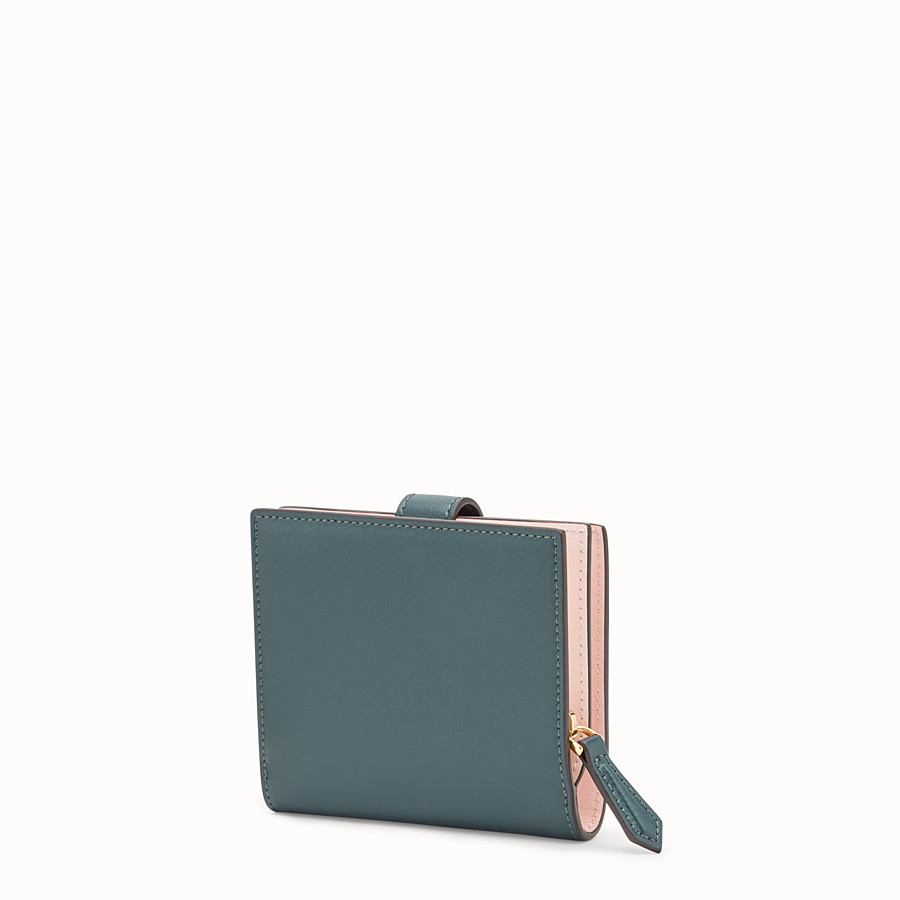 FENDI BIFOLD - Green leather compact wallet - view 2 detail