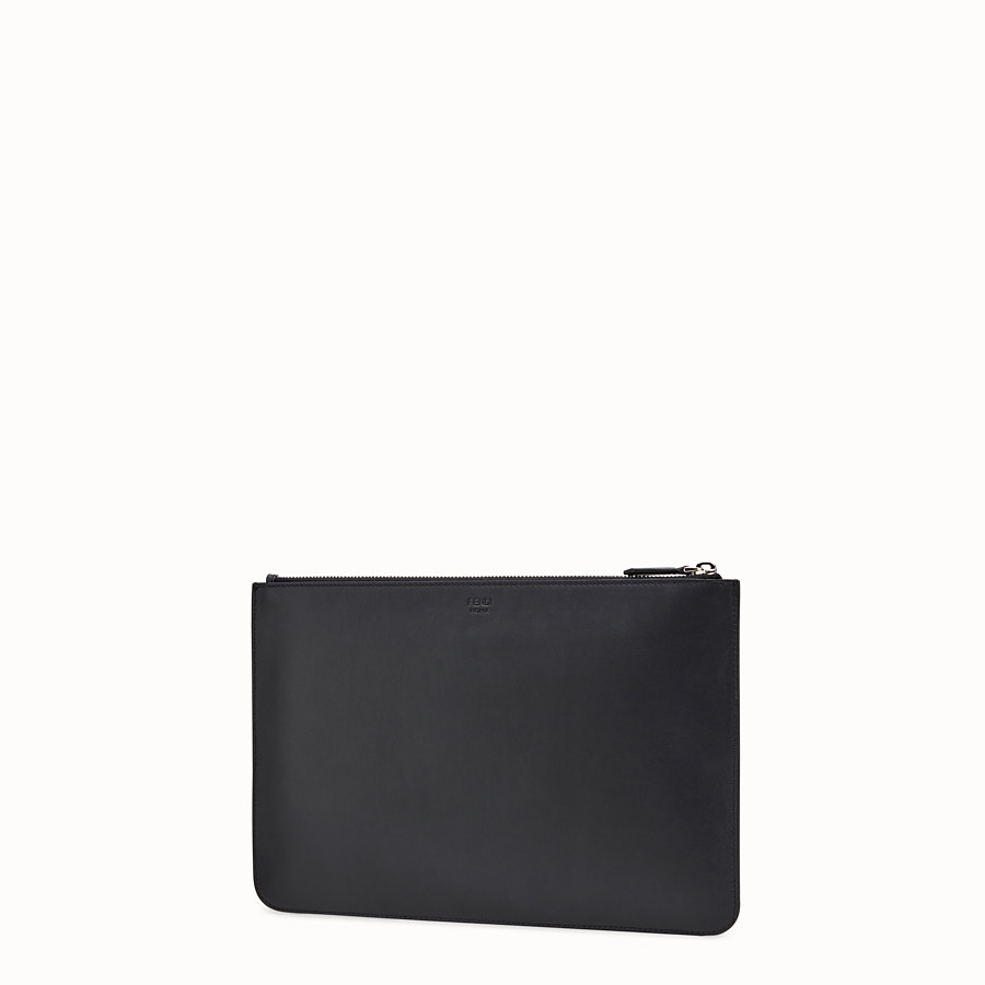 FENDI POUCH - Black leather pouch - view 2 detail