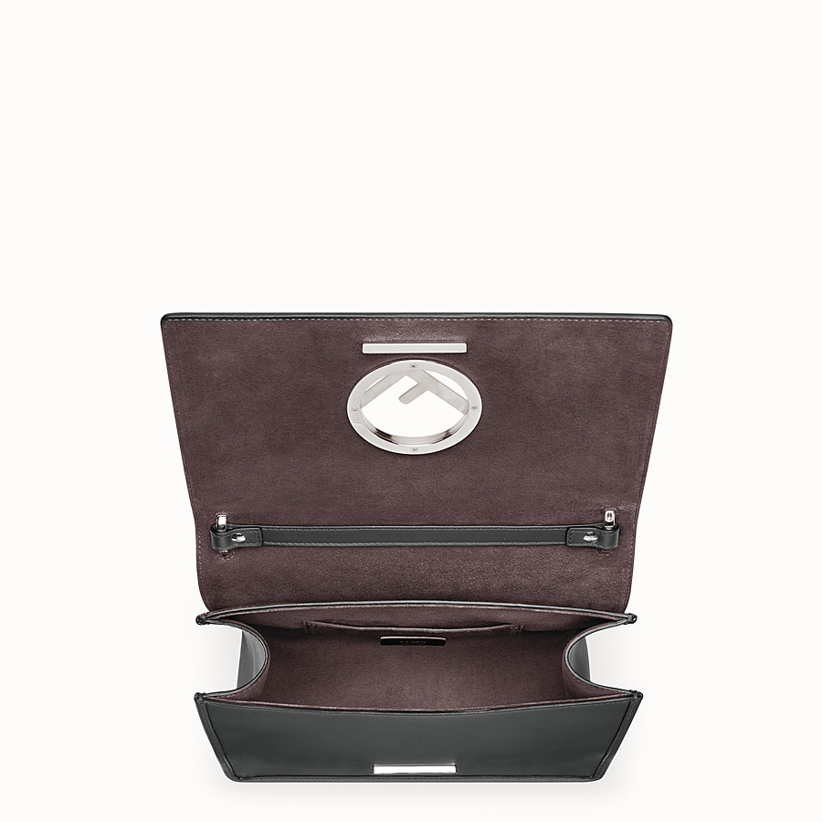 FENDI KAN I LOGO - Black leather bag - view 4 detail