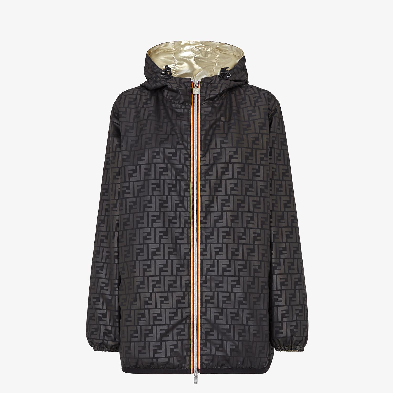 FENDI WINDBREAKER - Gold nylon FENDI x K-Way® jacket - view 4 detail