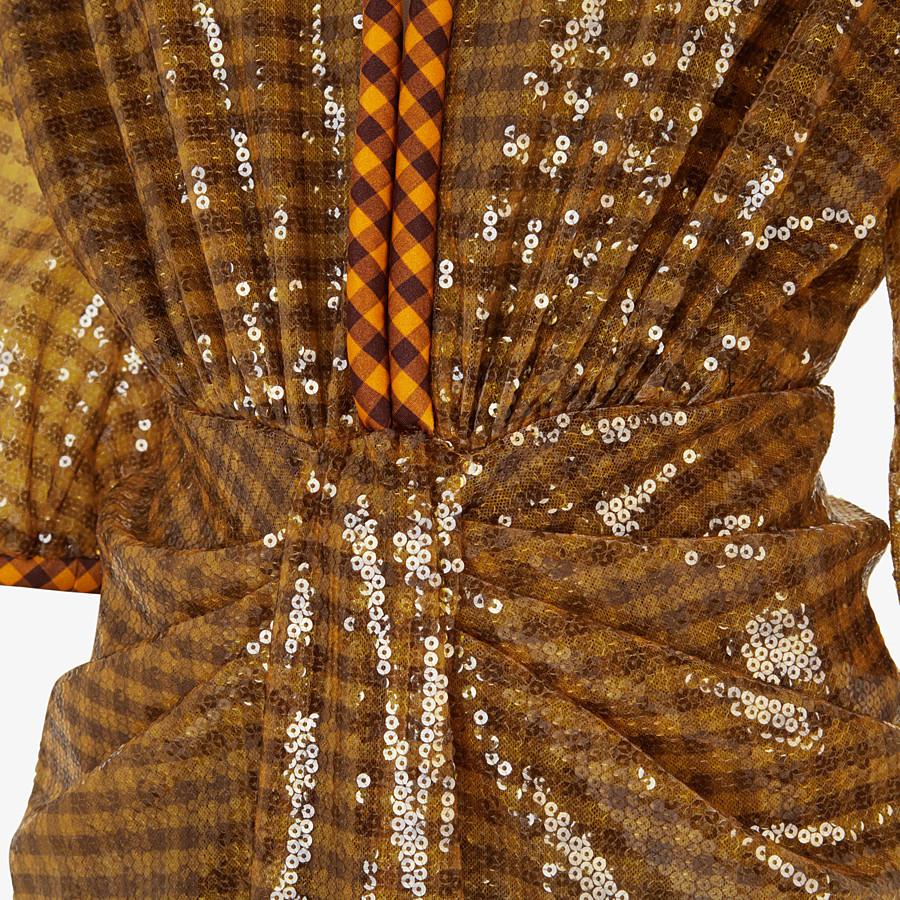 FENDI DRESS - Check sequin dress - view 3 detail
