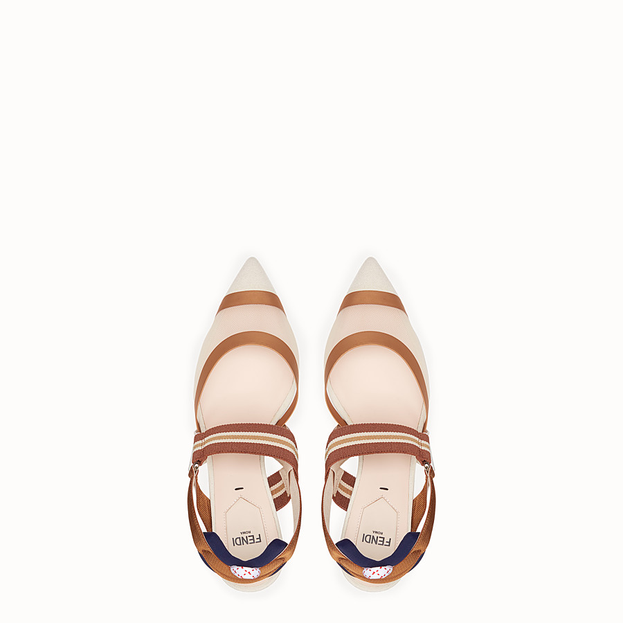 FENDI SLINGBACKS - Multicolour technical mesh slingbacks - view 4 detail