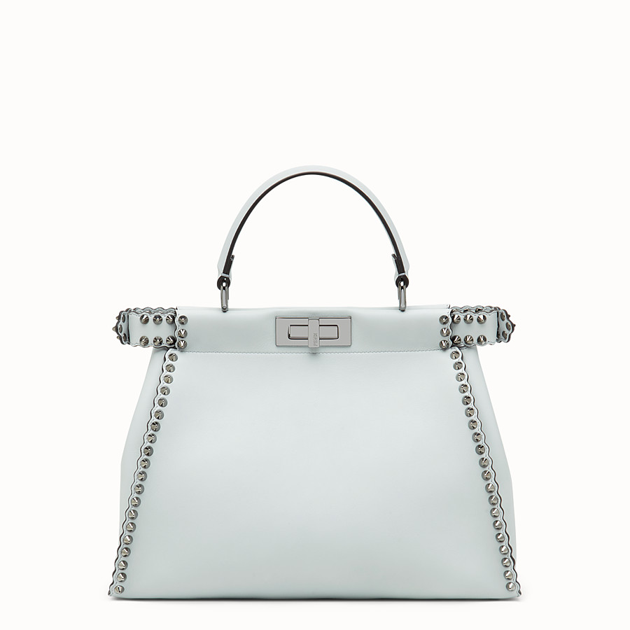 FENDI PEEKABOO REGULAR - Pale blue leather bag - view 3 detail
