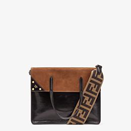 FENDI FENDI FLIP LARGE - Black leather bag - view 1 thumbnail