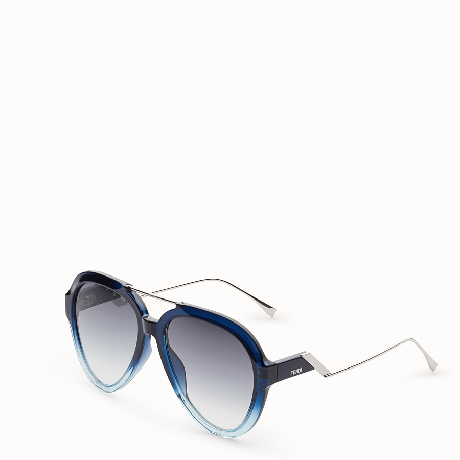 FENDI TROPICAL SHINE - Blue and pale blue sunglasses - view 2 detail